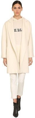 Max Mara SHORT BELTED WOOL & CASHMERE COAT