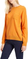 Jaeger Cashmere Boxy Pocket Jumper, Orange
