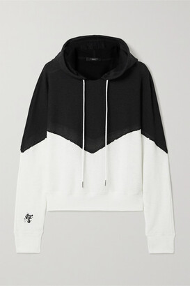 Twenty Montreal Breathe Two-tone Cotton-blend Mesh Hoodie