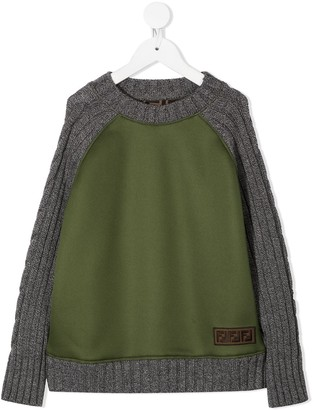 Fendi Kids FF-trimmed jumper