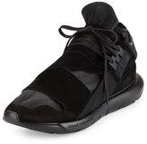 Y-3 Qasa Men's High-Top Leather Trainer Sneaker, Black
