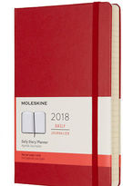 Moleskine NEW 2018 Large Red Hardcover Daily Diary