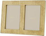AERIN Gold Linen Double Frame