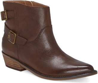 Lucky Brand Women's Casual boots TORTOISE - Tortoise Caelyn Leather Ankle Boot - Women