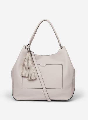 Dorothy Perkins Womens Grey Double Tassel Hobo Bag, Grey