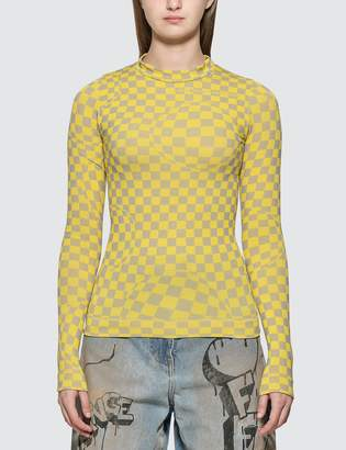Off-White Off White Bubble Check Long Sleeve T-shirt