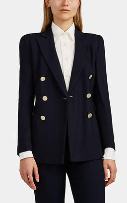 Giorgio Armani Women's Knit Double-Breasted Blazer - Navy