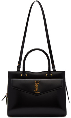Saint Laurent Black Medium Uptown Top Handle Bag