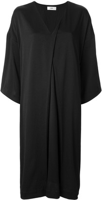Muller of Yoshio Kubo V-neck slit tuck dress