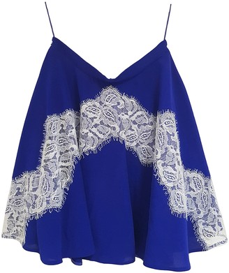 Carven Blue Silk Skirts