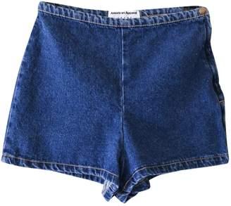 American Apparel Blue Denim - Jeans Shorts for Women
