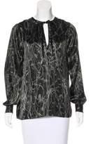 Edun Silk Abstract Print Blouse