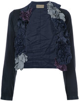 Comme des Garcons ruffle cropped jacket - women - Polyester/Polyurethane - S