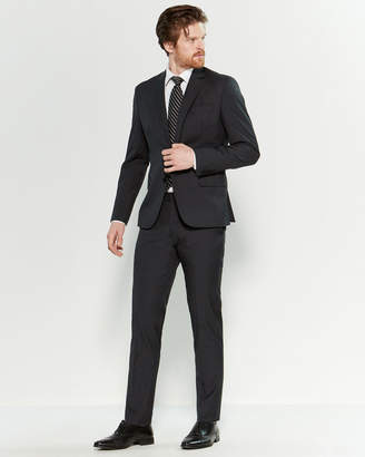 Roberto Cavalli Black & Grey Mini Check Slim Fit Suit