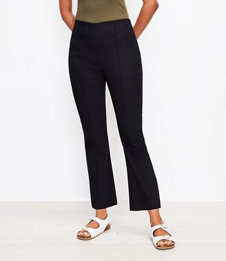 LOFT Petite Curvy High Waist Side Zip Kick Crop Leggings