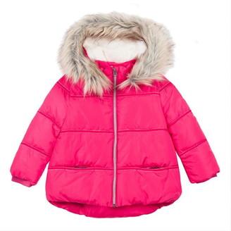 Catimini Filled Puffa Jacket With A Fur Collar