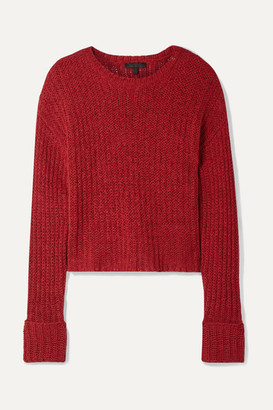 The Range Castaway Cotton-blend Sweater - Red