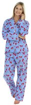 PajamaMania Women's Flannel Long Sleeve Pajamas, s (PMF1002-2032-CAN-XL)