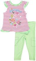 Absorba 2 Piece Denim Legging Set (Baby) - Pink-12 Months