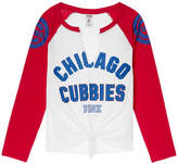 PINK Chicago Cubs Split-Neck Baseball Tee