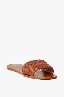 Loeffler Randall Joey Woven Square Toe Slide Sandal