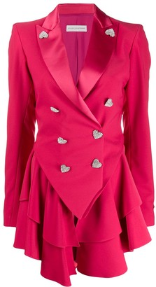 Silvia Astore Double-Breasted Fitted Blazer