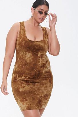 Forever 21 Plus Size Bleach-Dye Mini Dress