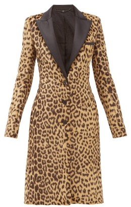 Paco Rabanne Single-breasted Leopard-print Faux-fur Coat - Womens - Leopard