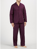 John Lewis Paisley Dot Pyjamas, Burgundy