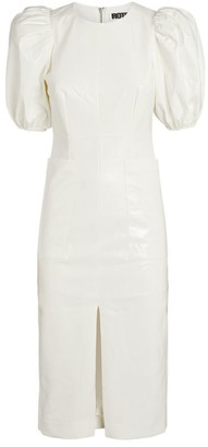 Rotate by Birger Christensen Puff-Sleeved Katarina Midi Dress