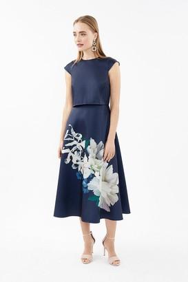 Coast Floral Cap Sleeve Full Skirted Shelf Dress