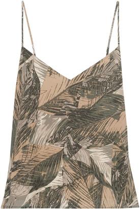 L'Agence Jane Printed Silk-habotai Camisole