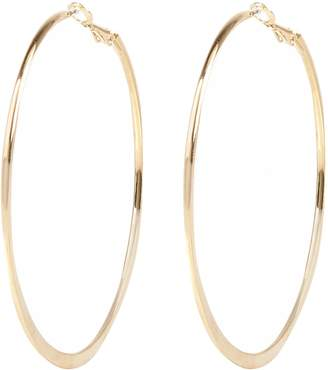 River Island Womens Gold colour medium flat bottom hoop earrings