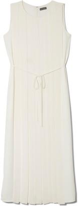 Vince Camuto Pleated Tie-waist Dress