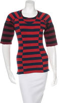 Isabel Marant Striped Short Sleeve Top