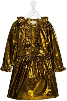 Stella Mccartney Kids Metallic Ruffled Dress