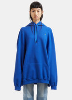 Vetements Oversized Euro Print Hooded Sweater in Blue