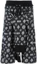 Kokon To Zai monogram tied up shorts
