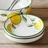 Sur La Table Hand-Painted Lemon Pasta Bowl
