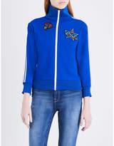 Preen Line Ladies Cobalt Blue Exposed Zip Irrissa Cotton-Jersey Jacket