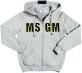 MSGM Logo Patches Hooded Cotton Sweatshirt