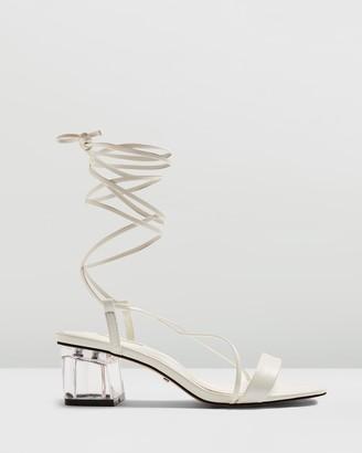 Topshop Dahlia Acrylic Tie Sandals