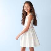 Bonnie Jean Girls 7-16 Mitered Stripe Dress