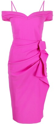 Le Petite Robe Di Chiara Boni Off-Shoulder Draped Dress