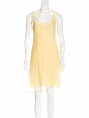 Brunello Cucinelli Sleeveless Scoop Neck Dress w/ Tags yellow