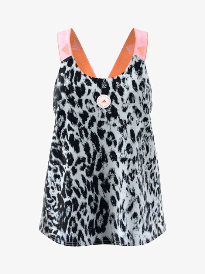 adidas by Stella McCartney TruePurpose Loose Tank Top, White/Black