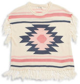 Jessica Simpson Girls 7-16 Fringe Knit Sweater