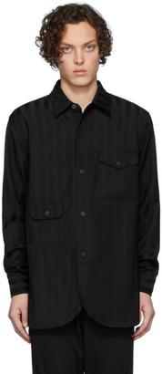 Han Kjobenhavn Black Striped Army Shirt