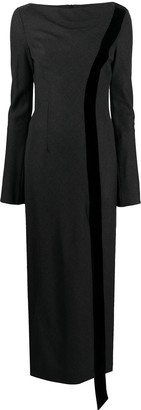 Gianfranco Ferré Pre Owned 1990s Bell Sleeves Side-Slit Dress