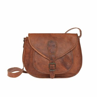 Vida Vida Vida Vintage Leather Saddle Bag Large